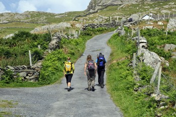 Walking on Inishturk Island
