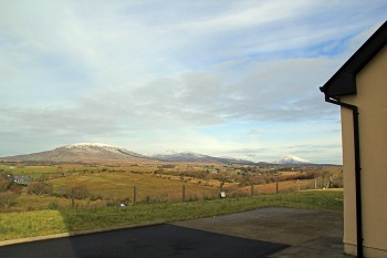 The View of the Nephn Mountain range from Western Greenway B&B - this picture was taken in wintertime.